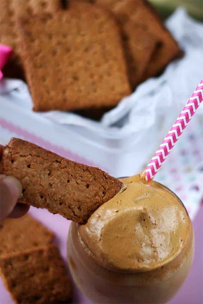 Biscuits graham et dalgona café