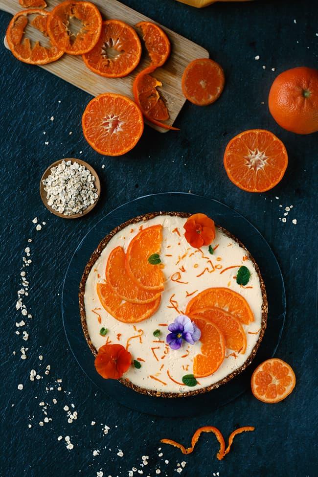 Tarte cheesecake à la mandarine