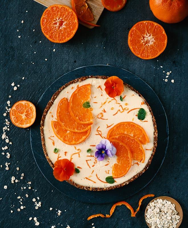 Tarte cheesecake mandarine