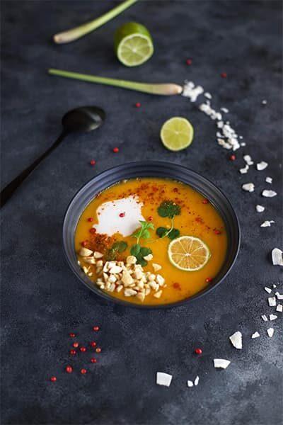 Soupe thaïe lait de coco & butternut