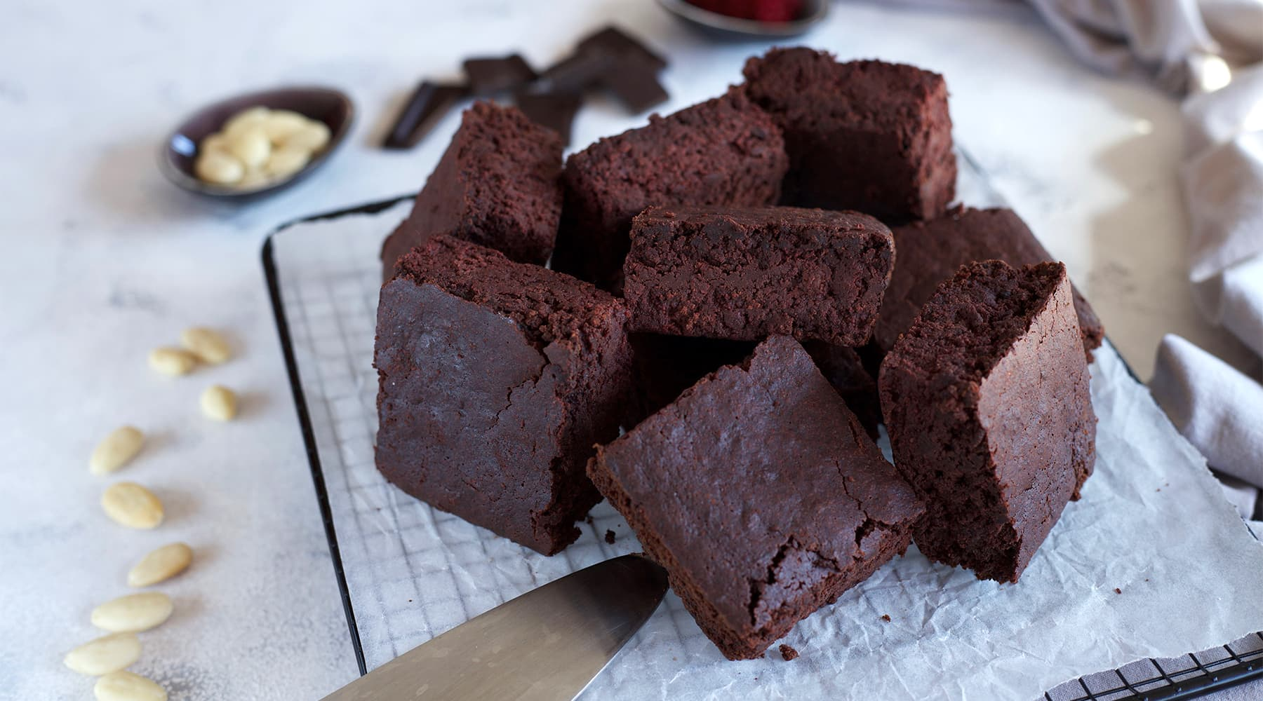 Brownies betterave chocolat (sans beurre et sans gluten)