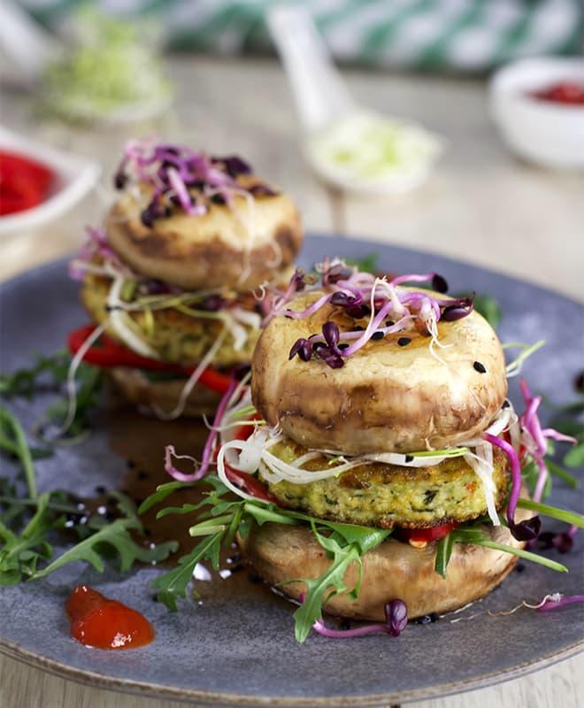 Burgers végétariens au tofu