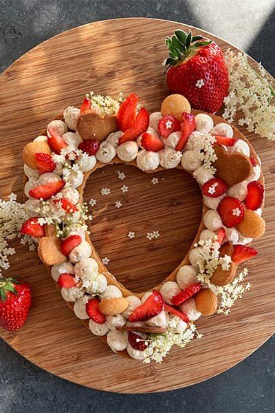 Gâteau aux fraises (spéciale fête des mères)