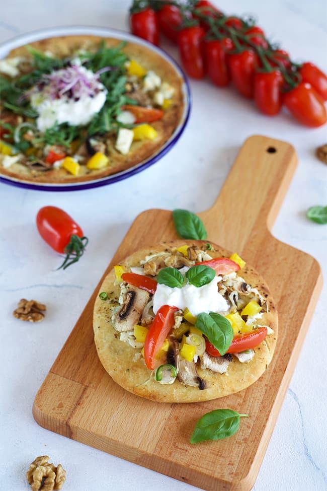 Pizza maison aux légumes
