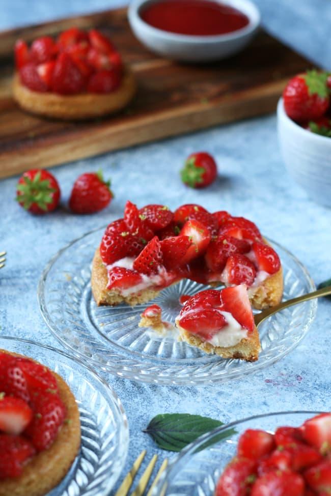 Tartelettes fraises basilic