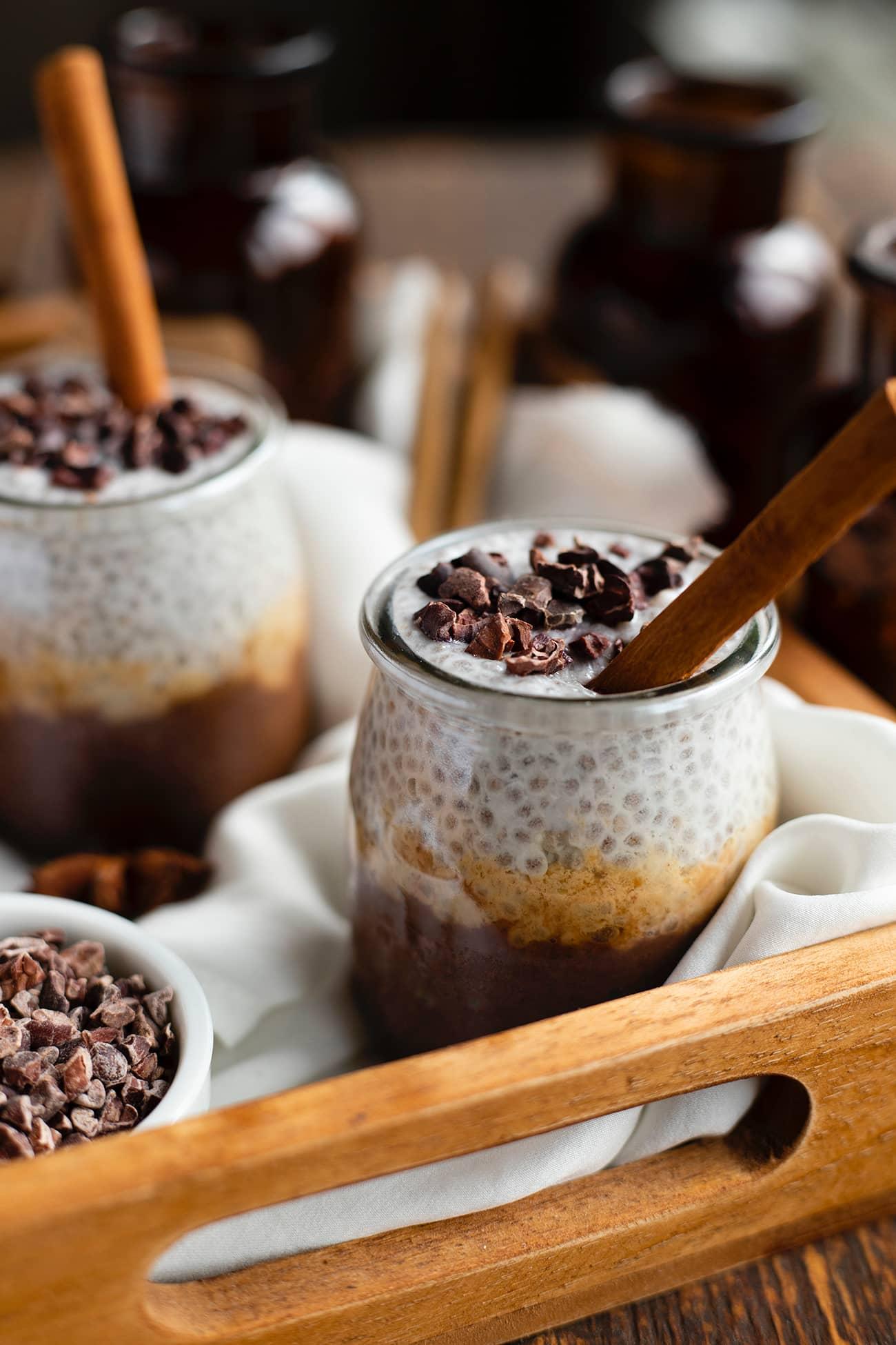 Pudding de chia chocolat cacahuète